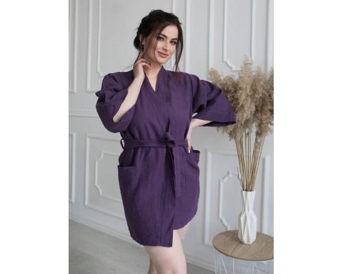 Купить женский льняной халат для бани и сауны недорого в Киеве. Заказать женский халат