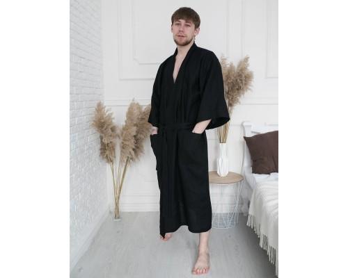 Купить мужской льняной халат для бани и сауны недорого в Киеве. Заказать мужской халат