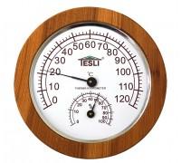 Термогигрометр для сауны и бани Tesli  большой D 245 мм