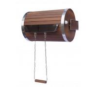 Водопад-цилиндр Tesli 30 л.  из термодерева и нержавеющей вставкой
