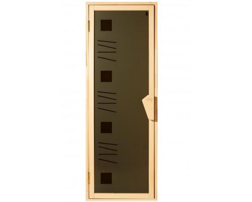 Дверь для бани и сауны Tesli Alfa Art 1900 x 700