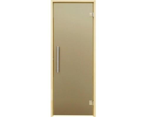 Дверь для бани и сауны Tesli Steel Sateen 2000 х 783