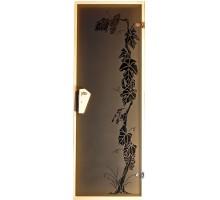 Двері для лазні та сауни Tesli Виноград 1900 х 700