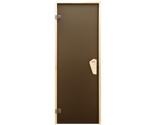 Дверь для бани и сауны Tesli Lux Sateen 1900 x 700